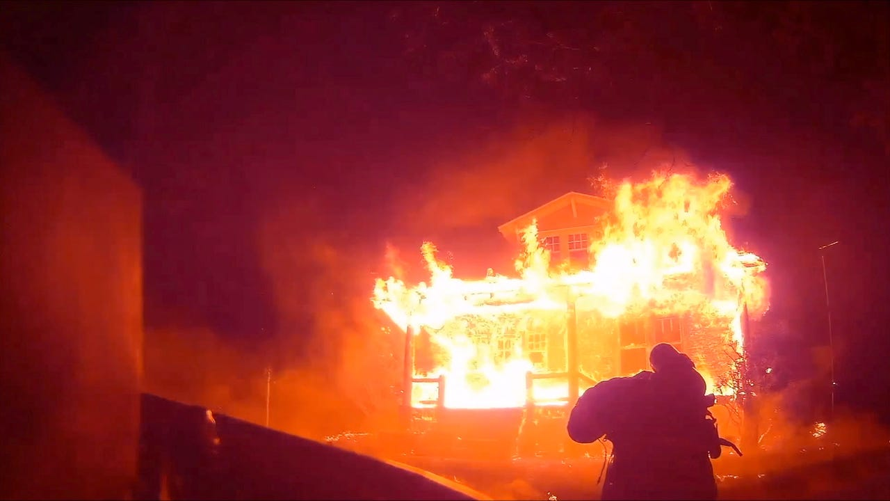 Dramatic Staunton Fire & Rescue helmet cam video from a house fire along North Augusta Street early April 13, as narrated by Deputy Fire Marshal Perry Weller.