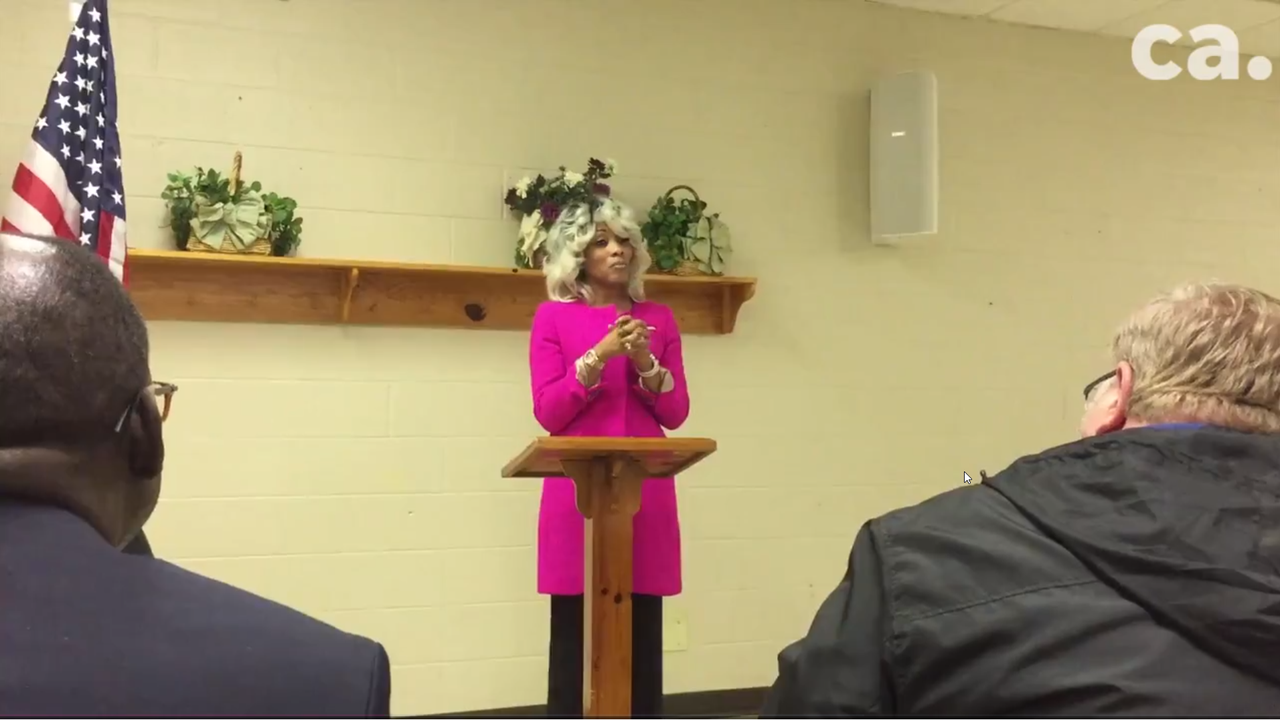 Sharon Griffin, named this week as the third head of the state-run Achievement School District, spoke briefly in Frayser on Thursday.