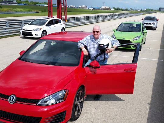VW Golf GTI high-performance sedan with USA TODAY's