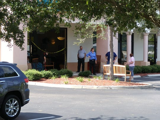 A crash smashed into the front of the Old 41 Restaurant