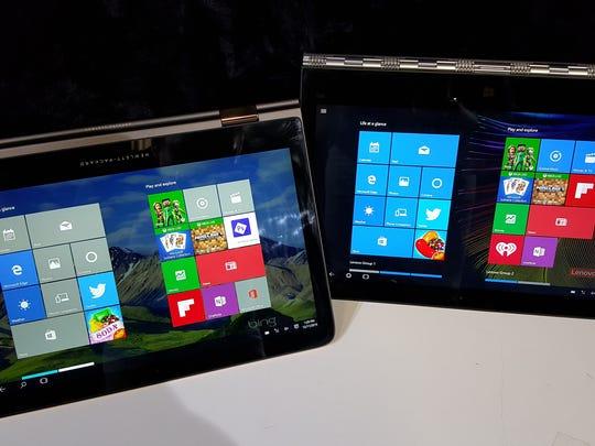 HP's Spectre X360 (left) and Lenovo's Yoga 900 (right)