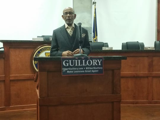 Sen. Elbert Guillory announces the introduction of