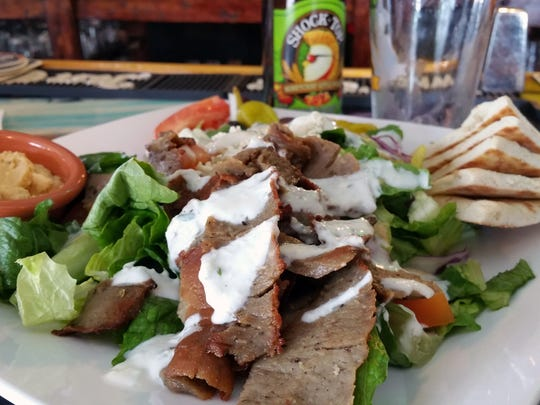 The Greek salad served at Mosa's Joint in HagΌtЖa