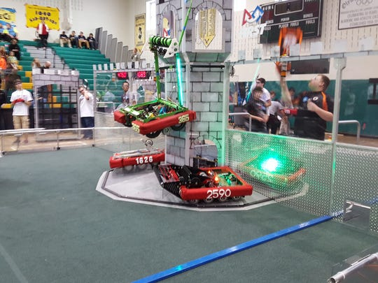 Scaling is one of the toughest challenges in the game FIRST Stronghold, the game at this year's FIRST Robotics Competitions.