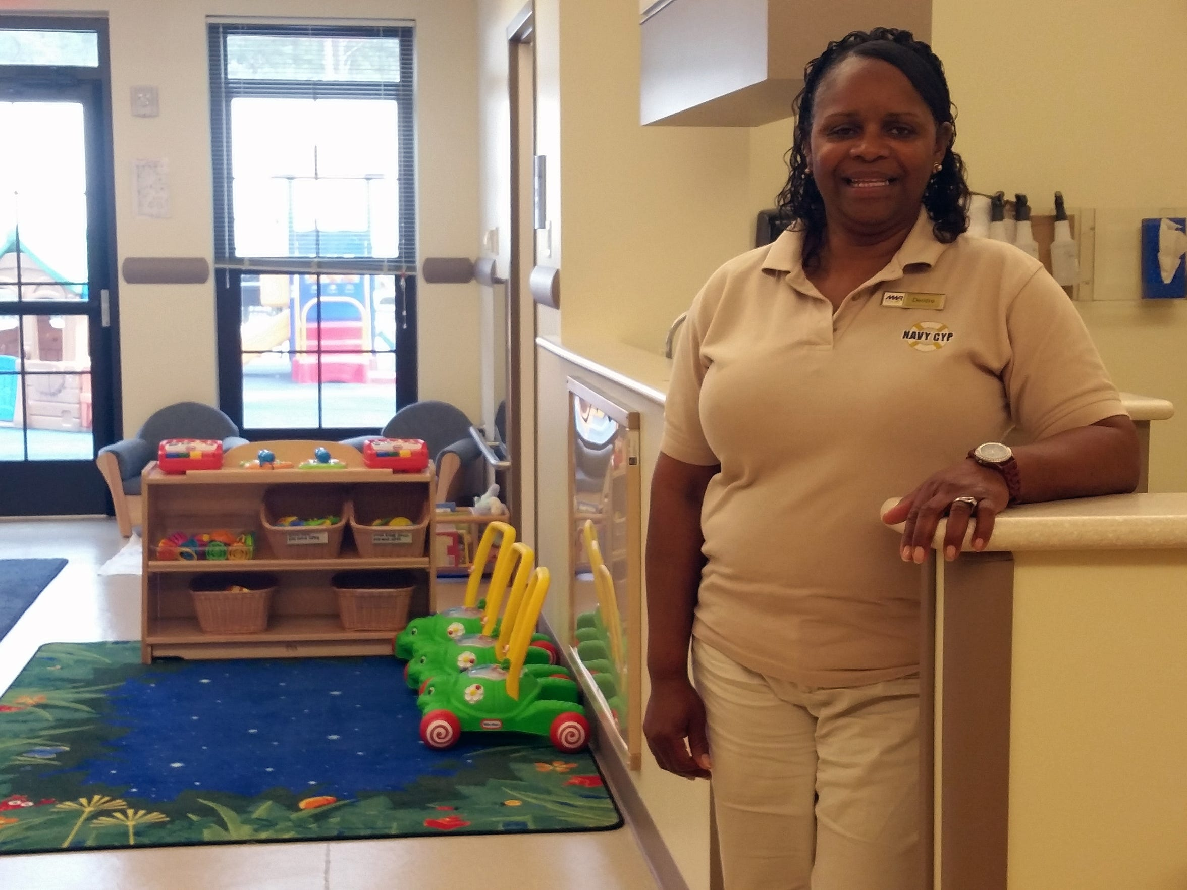 Deridre Odom, Child and Youth program manager at the Meridian Naval Air Station, says she embraces the high standards and accountability the military child care system has in place.