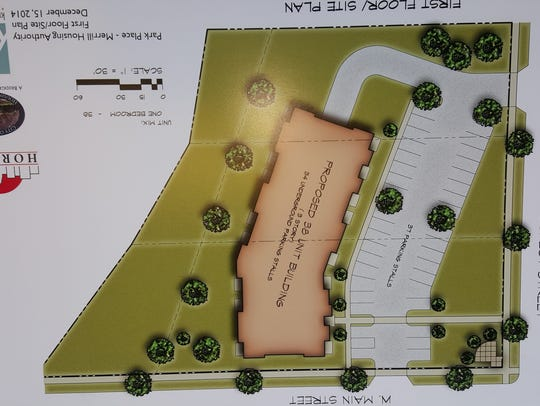 An architectural rendering of tentative plans for a