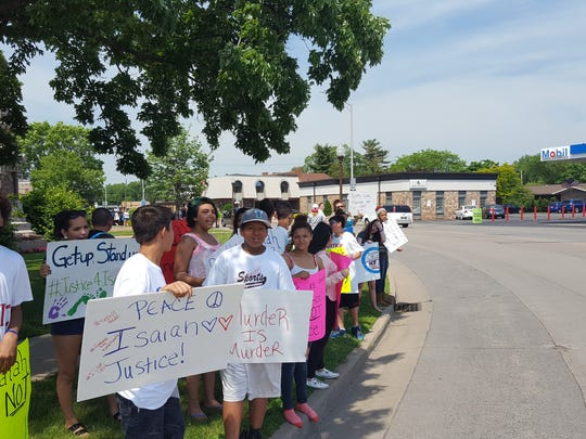 Protesters marched through Wausau Friday calling for justice for Isaiah Powell, the 13-year-old Wausau boy stabbed to death in a fight with Dylan Yang