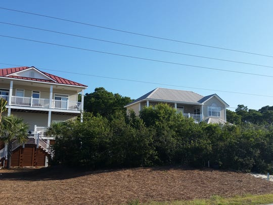 Migratory songbird stopover habitat saved during beach house construction.