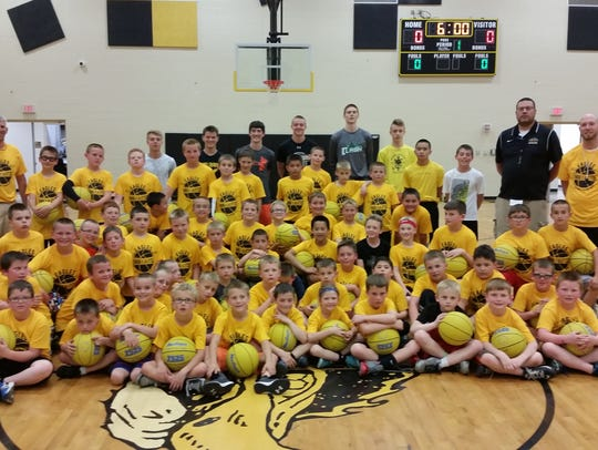 Colonel Crawford hosted it's youth basketball camp