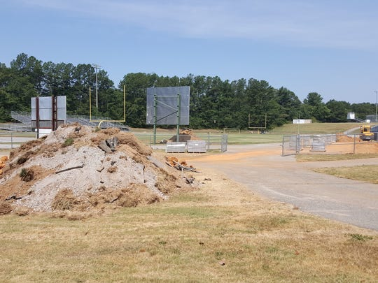 Greenville County Schools is in the midst of upgrading the track at Berea High School  from asphalt to a rubberized one.