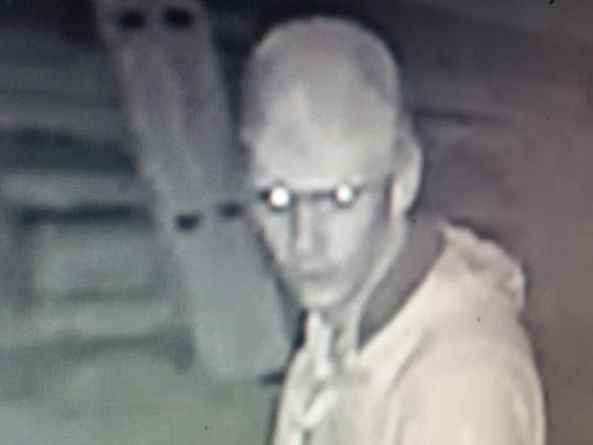 A security camera captured this image of a suspect in the June 23 burglary at Xmotoball Paintball and Sports Park in Montana Vista.