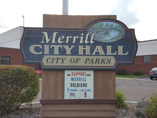 Merrill City Hall on August 10, 2016.
