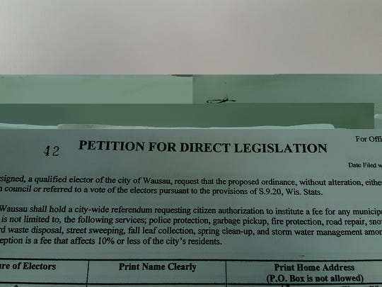 A copy of the 2006 petition in Wausau that led to an