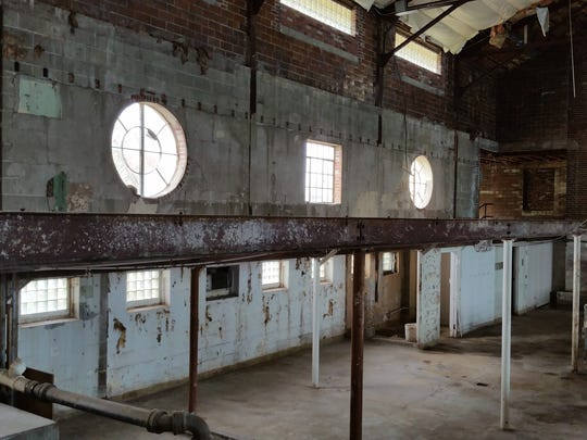 The interior of the former Whitestown High School is being renovated into a brewery and restaurant.