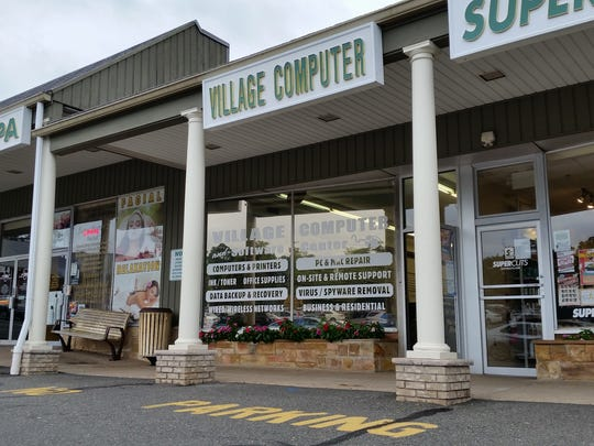 Between a hair salon and a day spa: The computer store