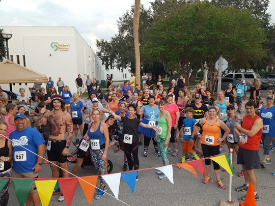 Runners gather at the start line at The Children's