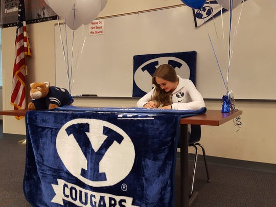 Dixie High's Aspen Welch signs a National Letter of