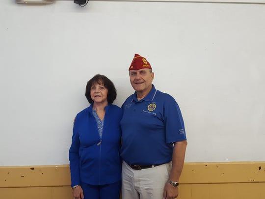 Margaret McClure (left) and American Legion National Commander Charles Schmidt.