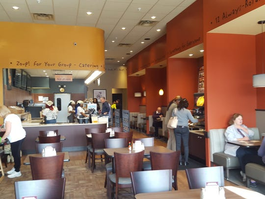 Zoup!, the soup-focused restaurant chain, will open its second Delaware location Thursday in the Christiana Fashion Center.