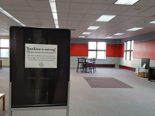 This second floor corner of the Marathon County Public Library headquarters in Wausau , shown Nov. 17,  will soon be renovated into a meeting room with a glass wall that opens for public events.