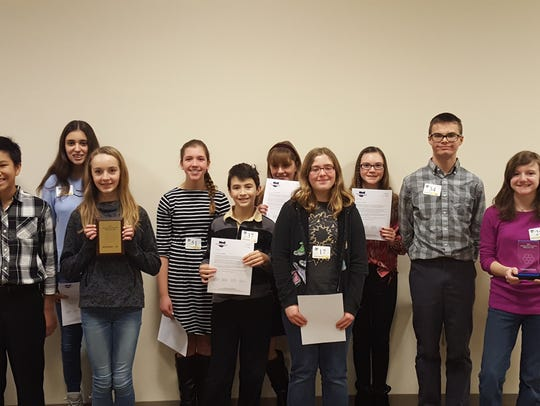 The top 12 finishers in the Richland County Spelling