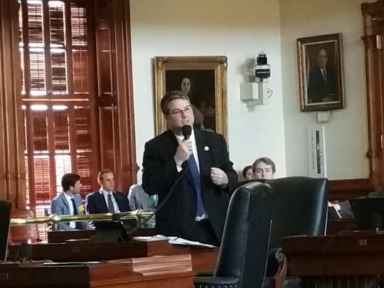 Texas state Sen. Charles Perry, R-Lubbock, argues Tuesday