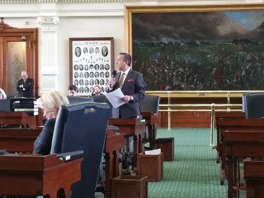 State Sen. Carlos Uresti, D-San Antonio, speaks Wednesday