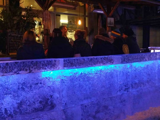 This looks like the last weekend for the ice bar outside