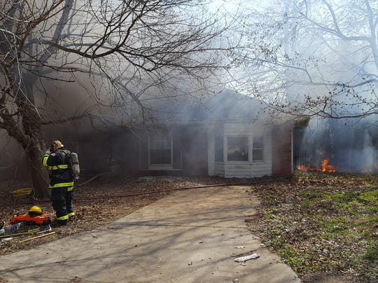 A fire destroyed a home in Republic on Sunday afternoon.