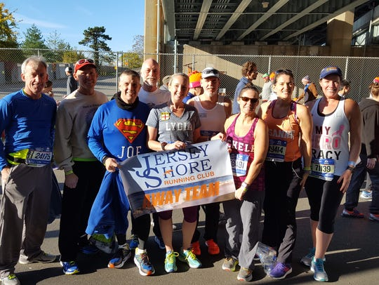 Members of the Jersey Shore Running Club at the New