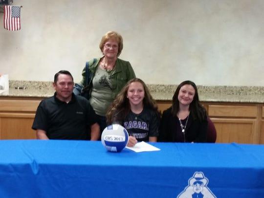 Carson senior Jaycie Roberts signs Wednesday to play volleyball for Niagara University