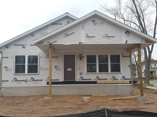 Wausau is building this home at Ninth and Stark streets with funding from community development block grant funds. It will be available to an income-qualifying residents. Shown here on April 19, 2017.