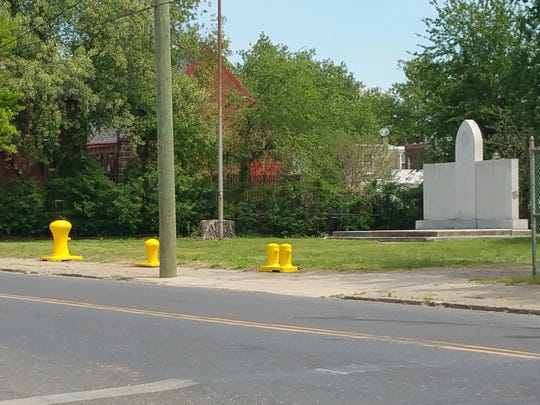 Bollards are now in place at the 8th Ward Memorial Park on Broadway in South Camden.