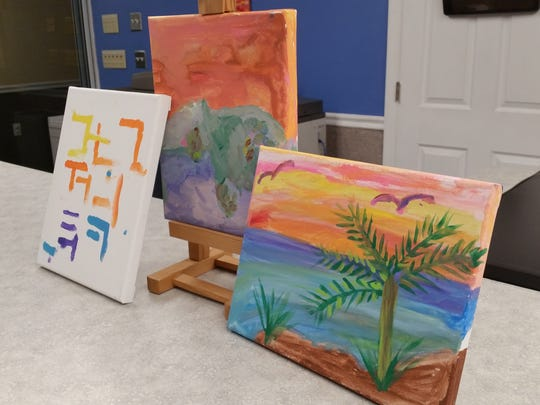 The works of art are currently on display in the foyer of the Greater Marco Family YMCA. The YMCA hosted a painting class for Parkinson's and Alzheimer's patients.