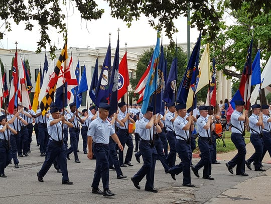 The Sheppard Air Force Flag Corps will march at the