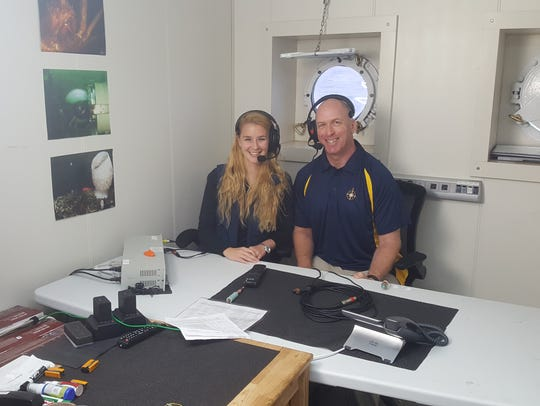 Jon Willis and Kaitlyn Lowen participate in a live