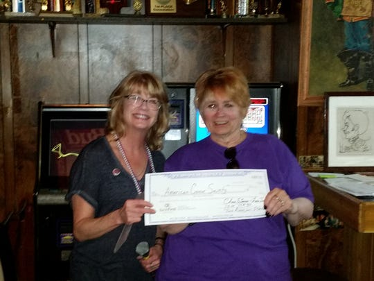Lee's Never Inn met its fundraising goals and handed
