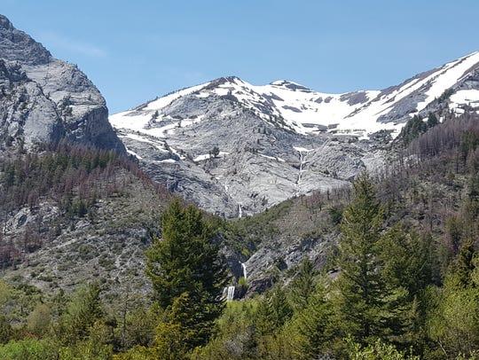 Slick Rock Gorge along Hurricane Creek Trail in the