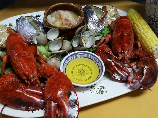 Lobster and clams at Lory's Lakeside.