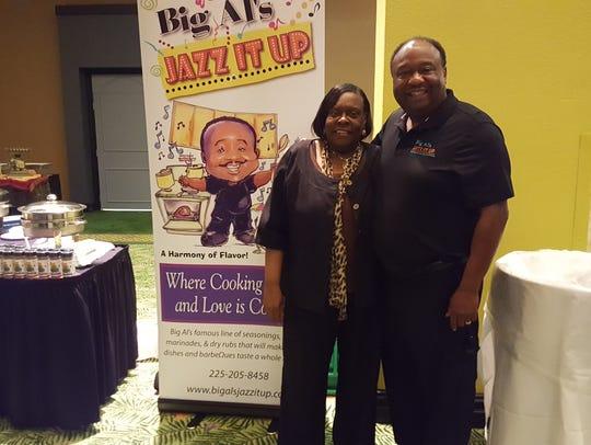 Caddo School Board member Dottie Bell (left) with Chef