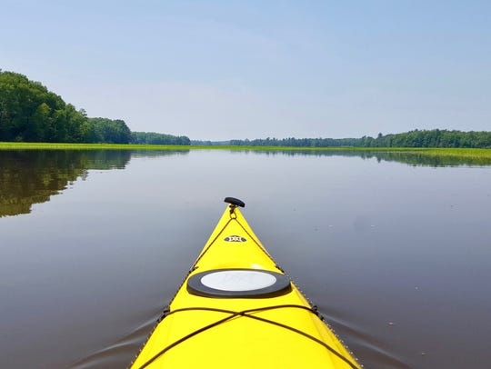 Flat water makes for perfect paddling on the Turtle-Flambeau