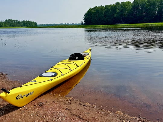 Flat water makes for perfect paddling on the Turtle-Flambeau Flowage in Iron County.