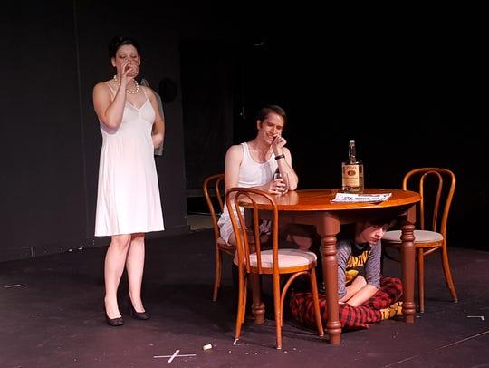 From left, Gennie Adams, playing Elizabeth Gould, Brandon