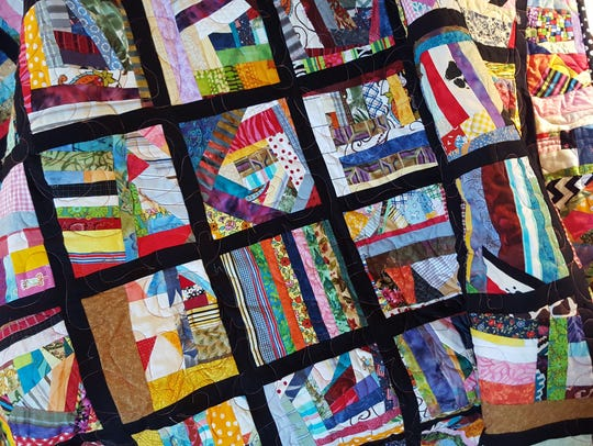 Barbara Wiggins' colorful quilt will be a part of the