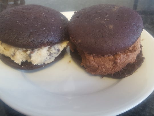 Cookie dough whoopie pies are new at Marc's CheeseCake