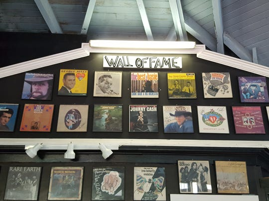 """Artists under the """"Wall of Fame"""" of acts that have performed at Silver Dome Ballroom  just outside of Neillsville."""