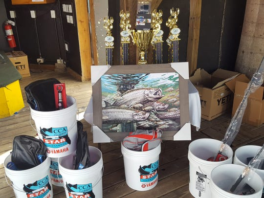 Thousands of dollars worth of trophies and prizes were