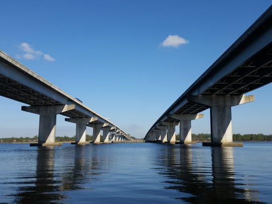 Interstate 10 stretches over the Blackwater River.