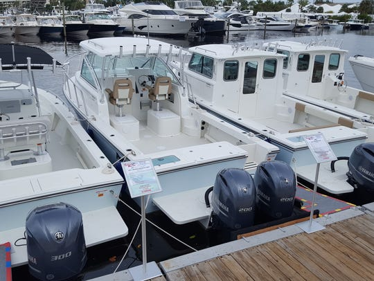 Several models of Parker Boats offered by Central Marine