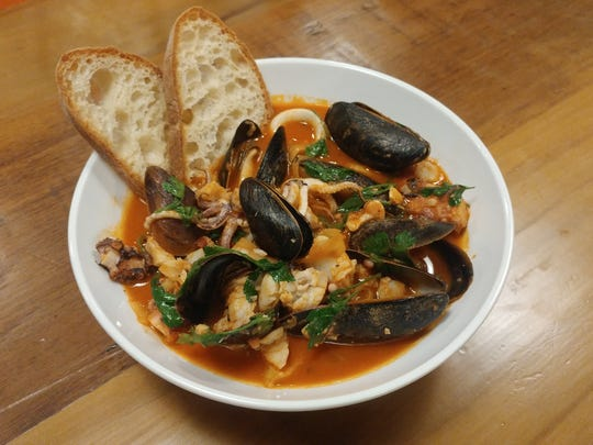 The Ciopinno (seafood stew) at Lupo.